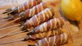 Тигровые креветки в беконе и кляре