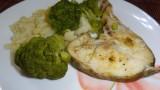 Рыба с овощами в мультиварке на пару