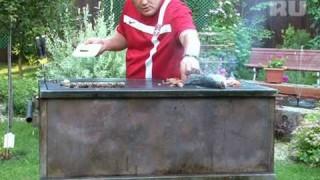 Сибас на гриле