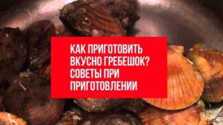 Как приготовить правильно и вкусно гребешок