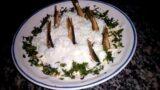 Салат со шпротами «Рыбки в пруду»